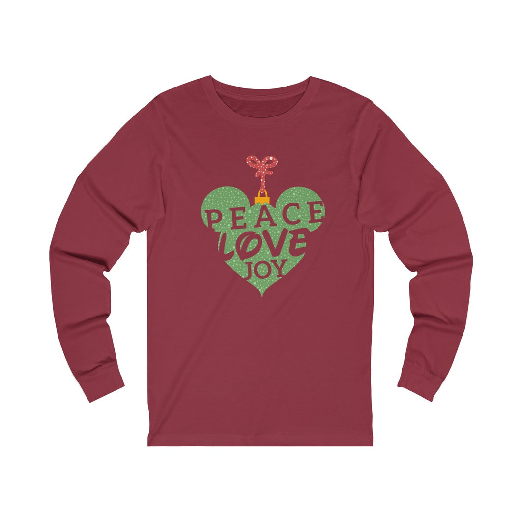Peace Love and Joy Unisex Jersey Long Sleeve Tee