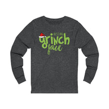 Load image into Gallery viewer, Resting Grinch Face Unisex Jersey Long Sleeve Tee