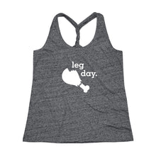 Load image into Gallery viewer, Leg Day Women's Cosmic Twist Back Tank Top