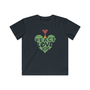 Peace Love and Joy  Kids Fine Jersey Tee - Light