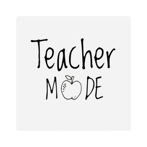 Teacher Mode Square Stickers