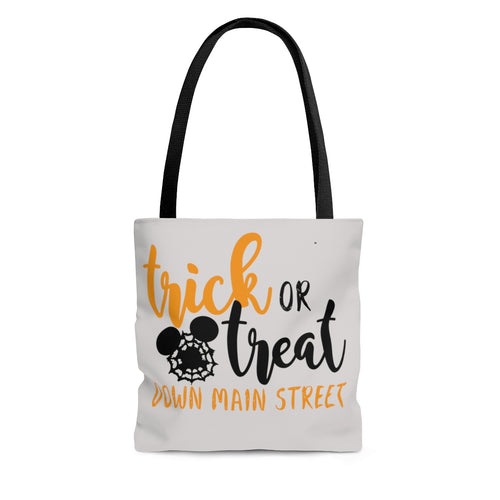 Trick or Treat Down Main Street AOP Tote Bag