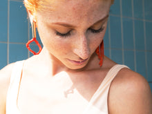 Load image into Gallery viewer, Tube Asymmetric Coral Stick Earrings