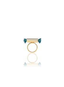 Tube & Square Twist Ring