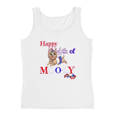 """4th of MOO-ly"" Ladies' Tank"