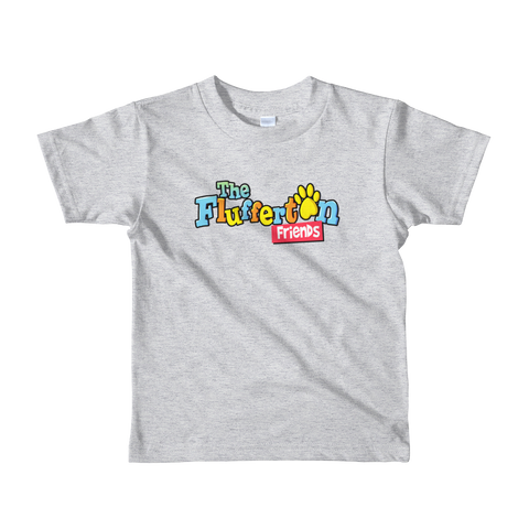 """Flufferton Friends"" Logo Short sleeve kids t-shirt"