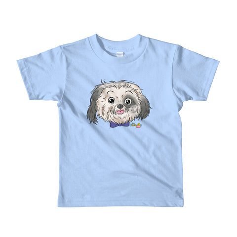 """Mr. Mo"" Face Short sleeve kids t-shirt"