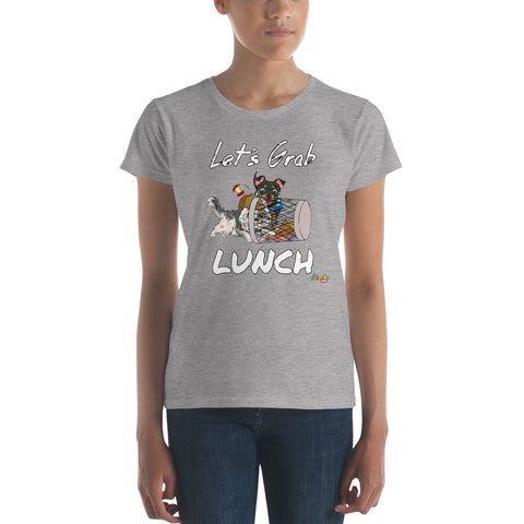 """Let's Grab Lunch"" Women's short sleeve t-shirt"