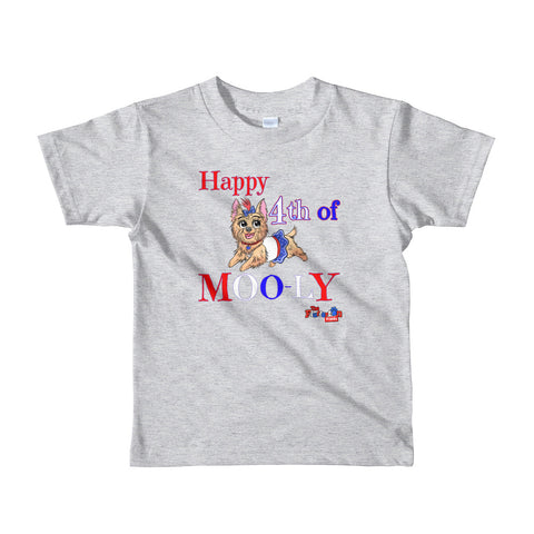 """4th of MOO-ly"" Short sleeve kids t-shirt"