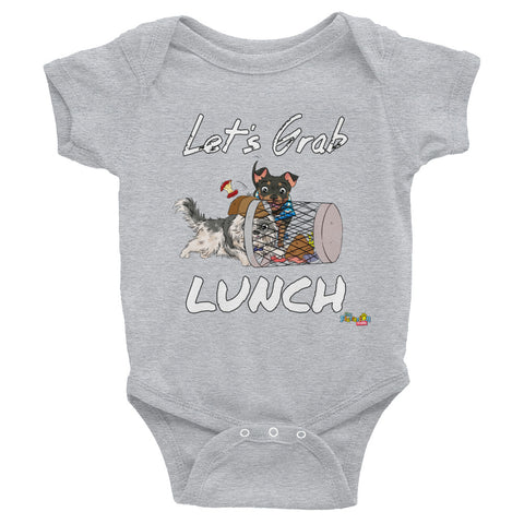"""Let's Grab Lunch"" Onesie"