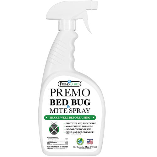 Premo All Natural Bed Bug & Mite Killer Spray – 24 oz - Natural Non Toxic.  Kills bed bugs & mites without pesticides