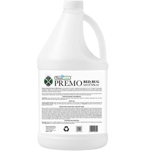 Premo Bed Bug, Mite Killer & Lice Killer Spray - 128 ounce - Natural Non Toxic - Safe - Eco-Friendly-listing-image-bottle-back-ingredients-effective-against-bed-bugs-bird-mites
