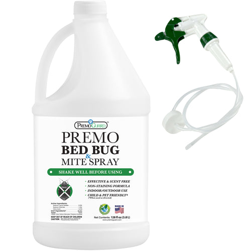 Premo Bed Bug, Mite Killer & Lice Killer Spray - 128 ounce - Natural Non Toxic - Safe - Eco-Friendly