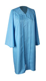 Sky Blue Matte Graduation Gown Cap With Tassel