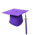 Purple Matte Graduation Gown Cap With Tassel