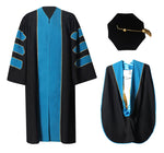 Deluxe Doctoral Graduation Gown Hood and 8-Sided Tam Package