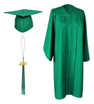 Emerald Green Matte Graduation Gown Cap With Tassel