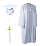 White Matte Graduation Gown Cap With Tassel