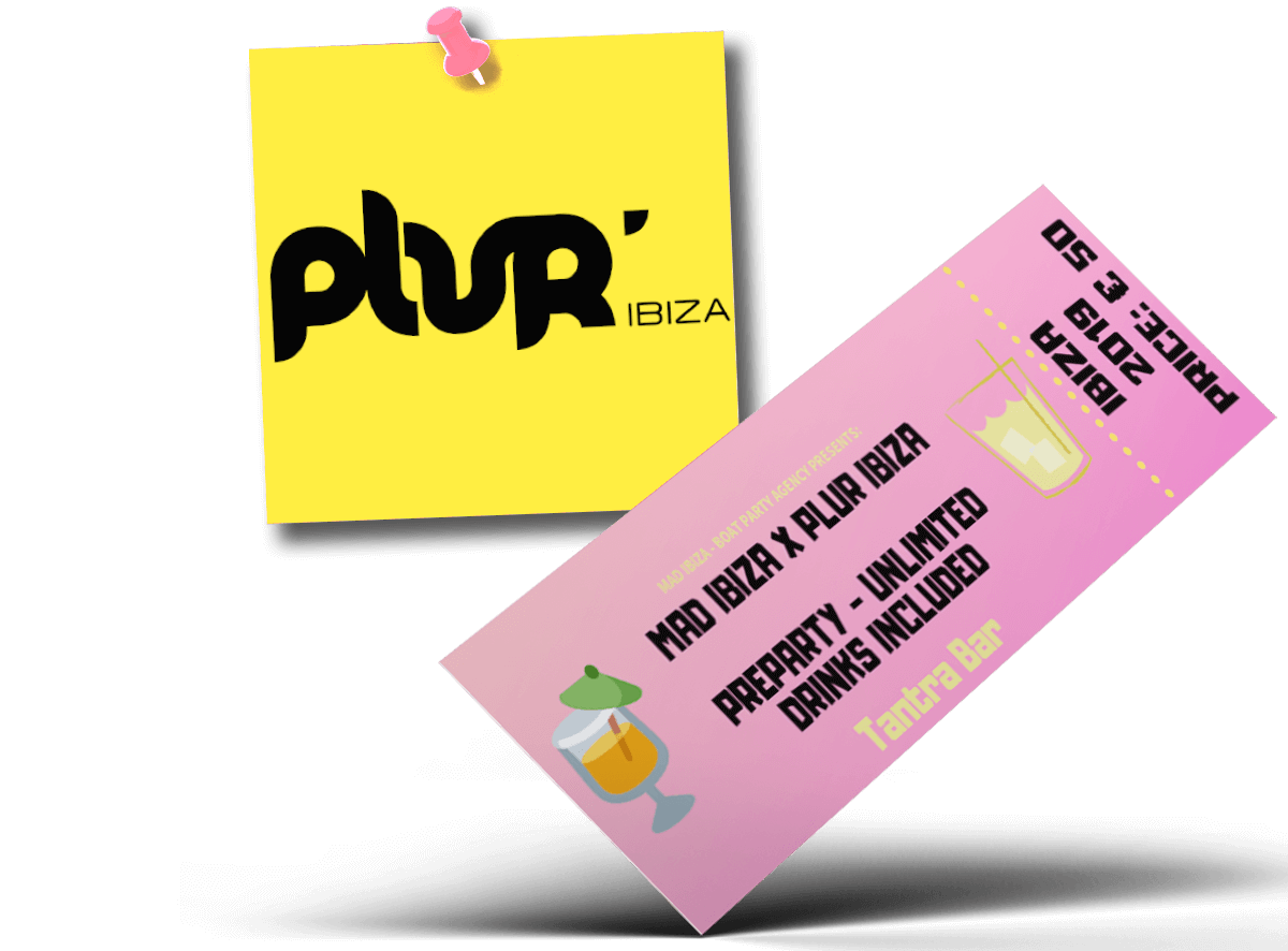 PLUR Ibiza - Preparty Unlimited Drinks Included (Tantra Bar)