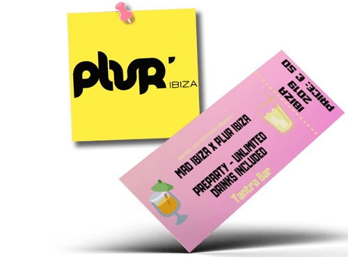 PLUR Ibiza - Preparty bevande illimitate incluse (Tantra Bar) -Mad Ibiza - Boat Party Agency
