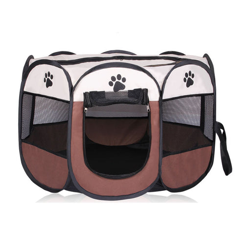 HOT Portable Folding Pet tent Dog House Cage Dog Cat Tent Playpen Puppy Kennel Easy Operation Octagonal Fence outdoor supplies - Big Barks