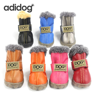 Pet Dog Shoes Winter Super Warm 4pcs/set Dog's Boots Cotton Anti Slip XS 2XL Shoes for Small Pet Product ChiHuaHua Waterproof - Big Barks