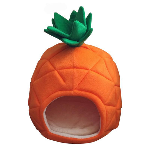Petminru Pet Cat House Foldable Soft Winter Dog Bed Pineapple Shape Dog House Cute Kennel Nest Dog Warm Cat Bed - Big Barks