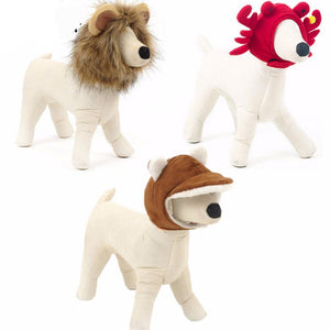 Hoopet Pet Dog Cat Cap Funny Hat Lion Mane Wig Hat Party Cosplay Costume Accessory Out Door Head Wear - Big Barks