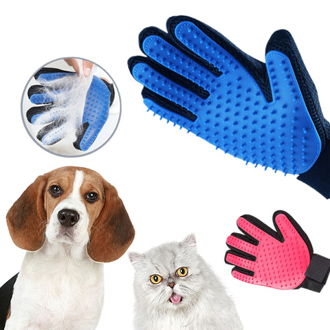 Pet Dog Hair Brush Comb Glove For Pet Cleaning Massage Grooming Supply Glove For Animal Finger Cleaning Cat Hair Glove - Big Barks