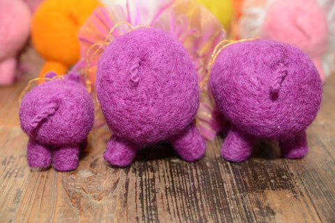 Ornaments Hippo Family Lilac