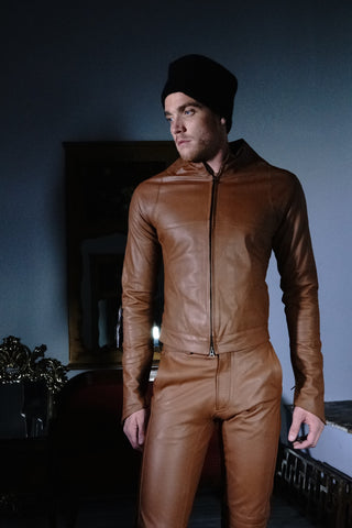 Jacket Tan Leather