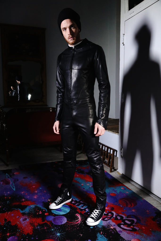 Streamline Leather Suit Black