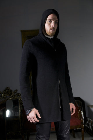 Knit Coat with Hood