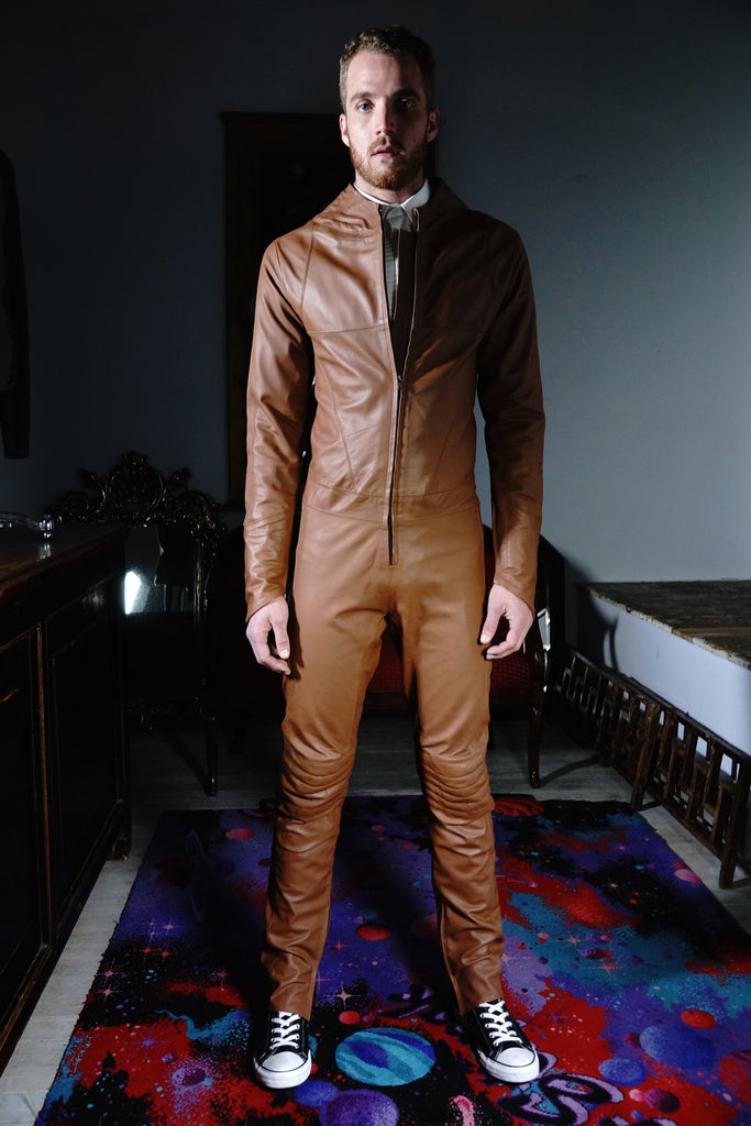Streamline Leather Suit Tan