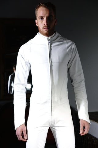 Streamline Leather Suit White
