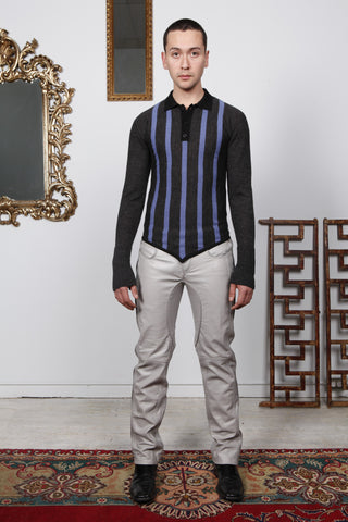 Multi-Stripe Mesh Knit