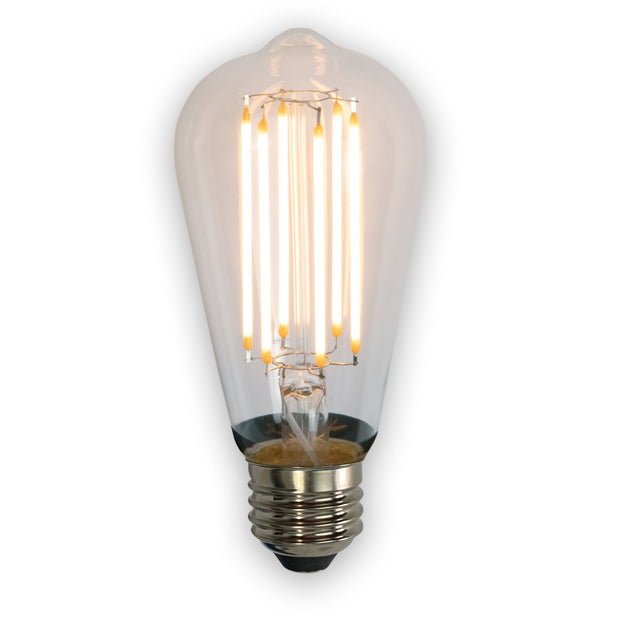 Dimmable Edison LED Bulb / Medium Base / Clear Glass / 40 Watt Equivalent