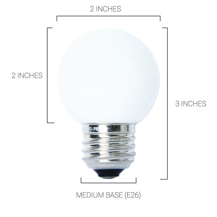 Dimmable G16.5 LED Bulb / Medium Base / Frosted White / 40 Watt Equivalent