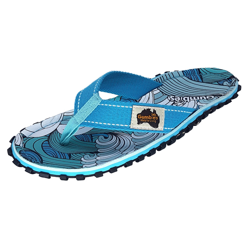 Islander Canvas Flip-Flops - Waves
