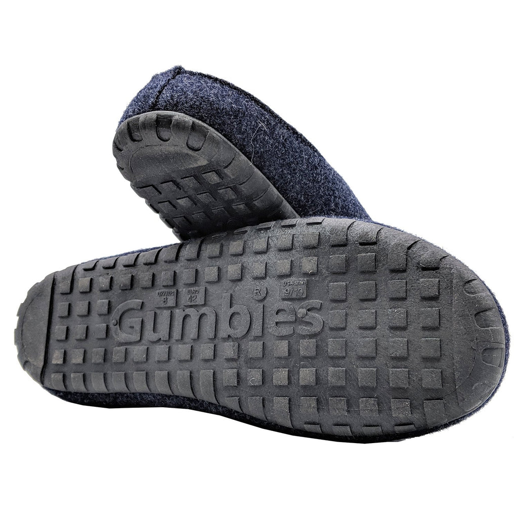 Outback Slippers - Navy & Grey