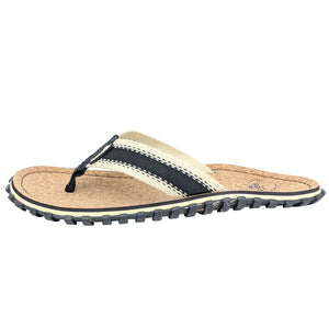 Corker Natural Cork Flip-Flops - Black