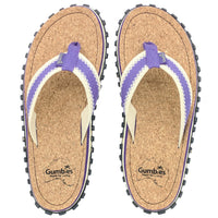 Corker Natural Cork Flip-Flops - Purple