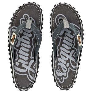 Islander Canvas Flip-Flops - Cool Grey