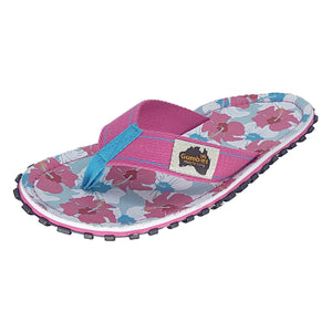 Islander Canvas Flip-Flops - Mixed Hibiscus