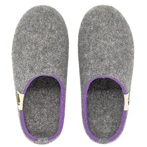 Outback Slipper - Grey & Purple