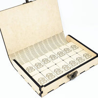 Custom wood double 6 dominoes set with box