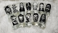 set of 12 movie monsters shot glasses!
