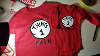 Thing 1 Thing 2 Matching Shirts - CCCreationz