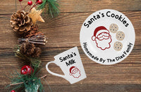Santa's Cookies Plate and Santa's Milk Mug - CCCreationz