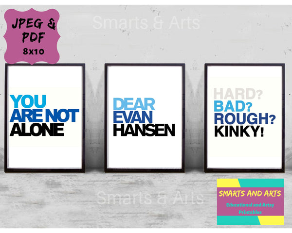Dear Evan Hansen, Theatre Quote, Broadway wall quotes